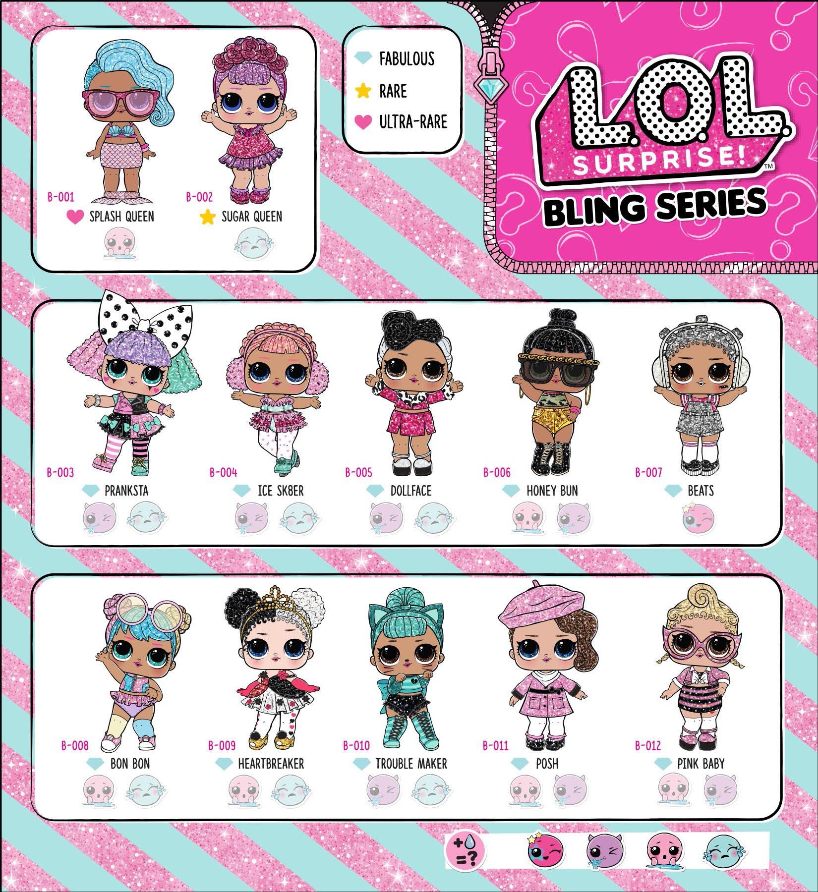 16 + Lol Surprise Dolls Checklist Images ⌁ Lol Surprise Glitter