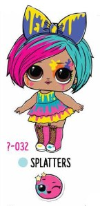 L.O.L. Surprise! Makeover Series Hair Goals – 1-032 Splatters