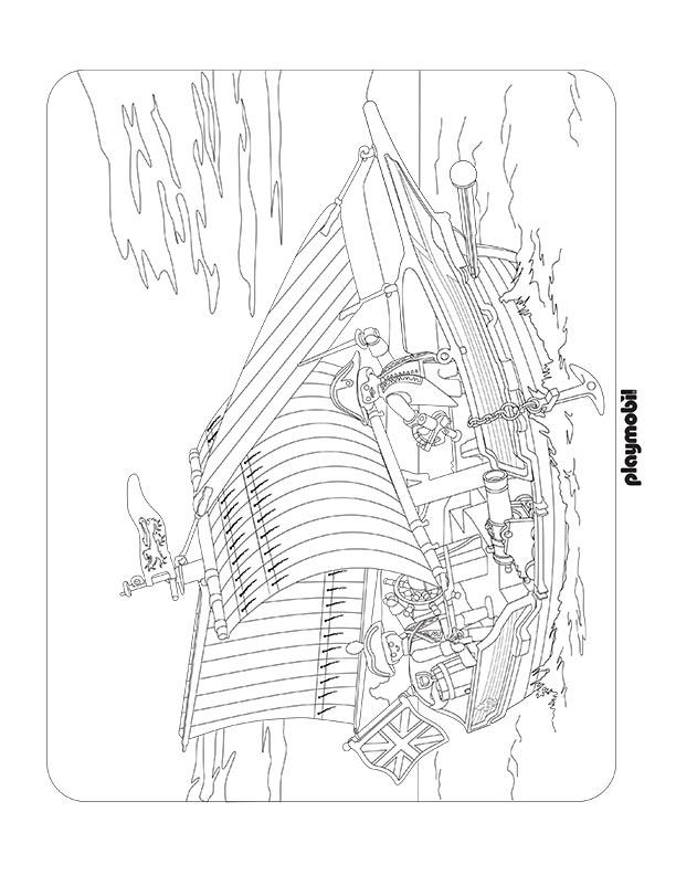 Playmobil Pirate Coloring Pages Www Bilderbeste Com
