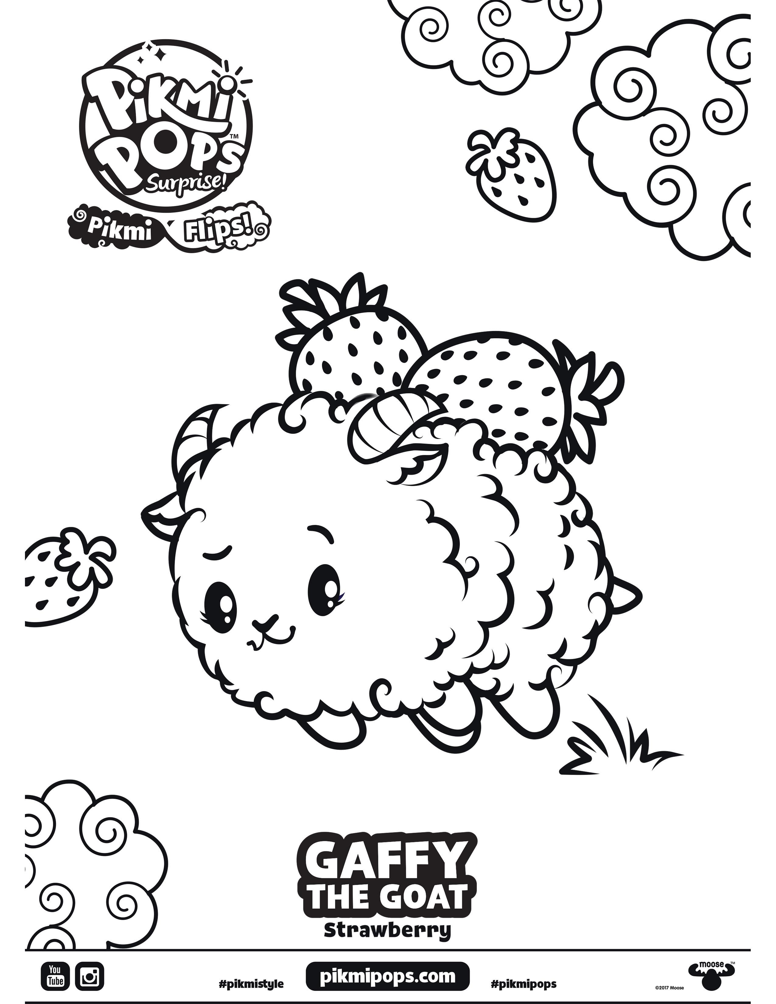 Pikmi Pops Surprise Season 4 Flips Coloring Sheet Gaffy The