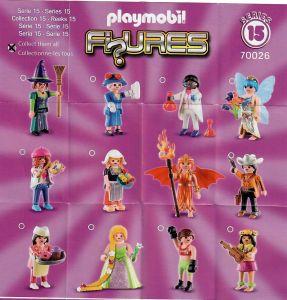 Playmobil Figures Series 15 Girls List Checklist Collector Guide Insert