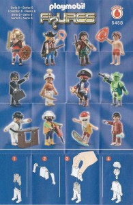 Playmobil Figures Series 6 Boys List Checklist Collector Guide Insert