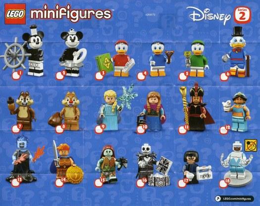 Lego Minifigures Sets The Disney Series 2 List Checklist Insert Collectors Guide