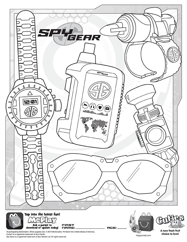McDonalds Happy Meal Coloring and Activities Sheet – Spy
