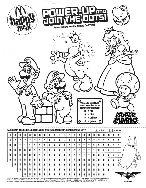 McDonalds Happy Meal Coloring and Activities Sheet – Super Mario 05 ...