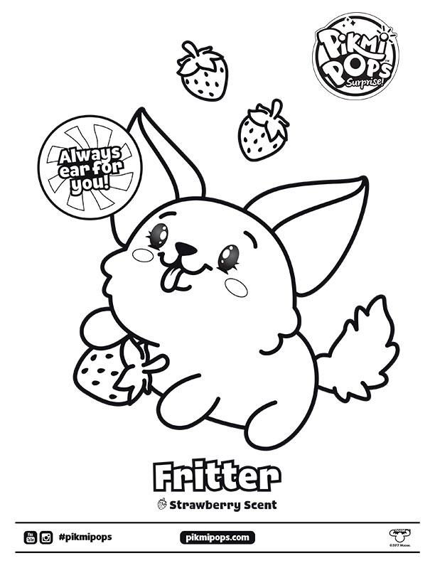 Pikmi Pops Surprise Season 3 Coloring Sheet Fritter Kids Time