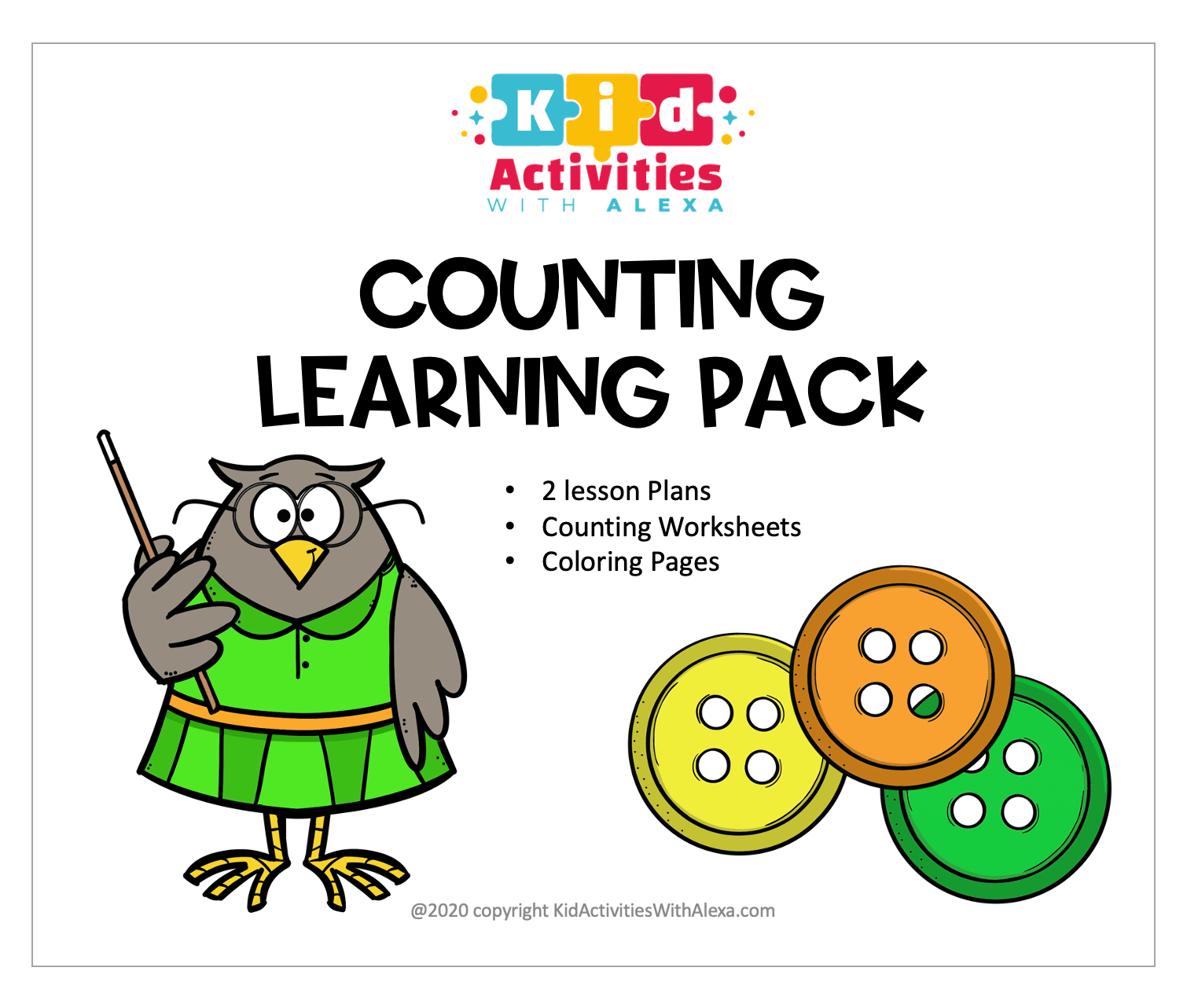 Counting Worksheets Lesson Plan 1 10
