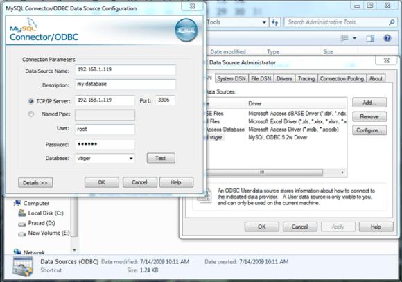 Fill MySQL Details