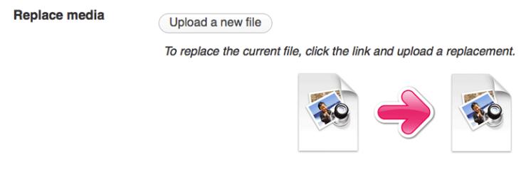 enable media replace plugin