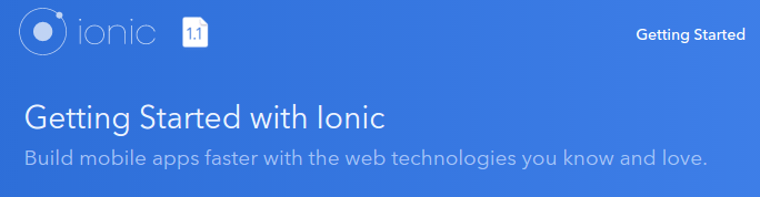 My first Ionic App