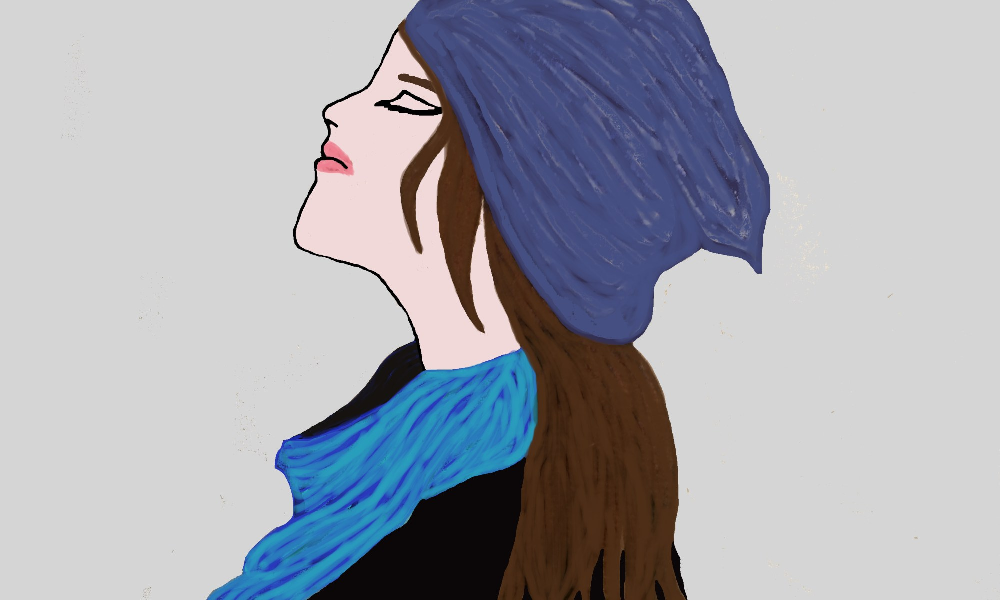 Beanie, Girl, Art, Drawing