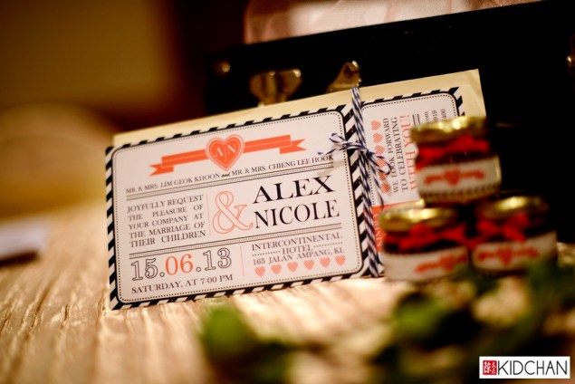 Alex & Nicole invitation card