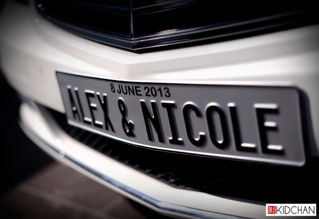 Custom car Plate of Alex & Nicole