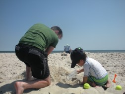 Hard at work at the beach- Michele Carroll