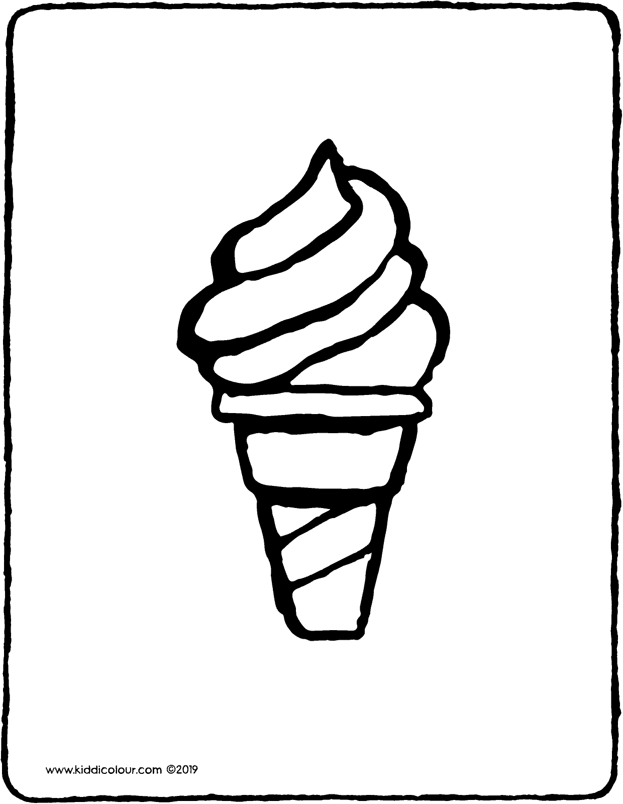 Soft Serve Ice Cream Kiddicolour