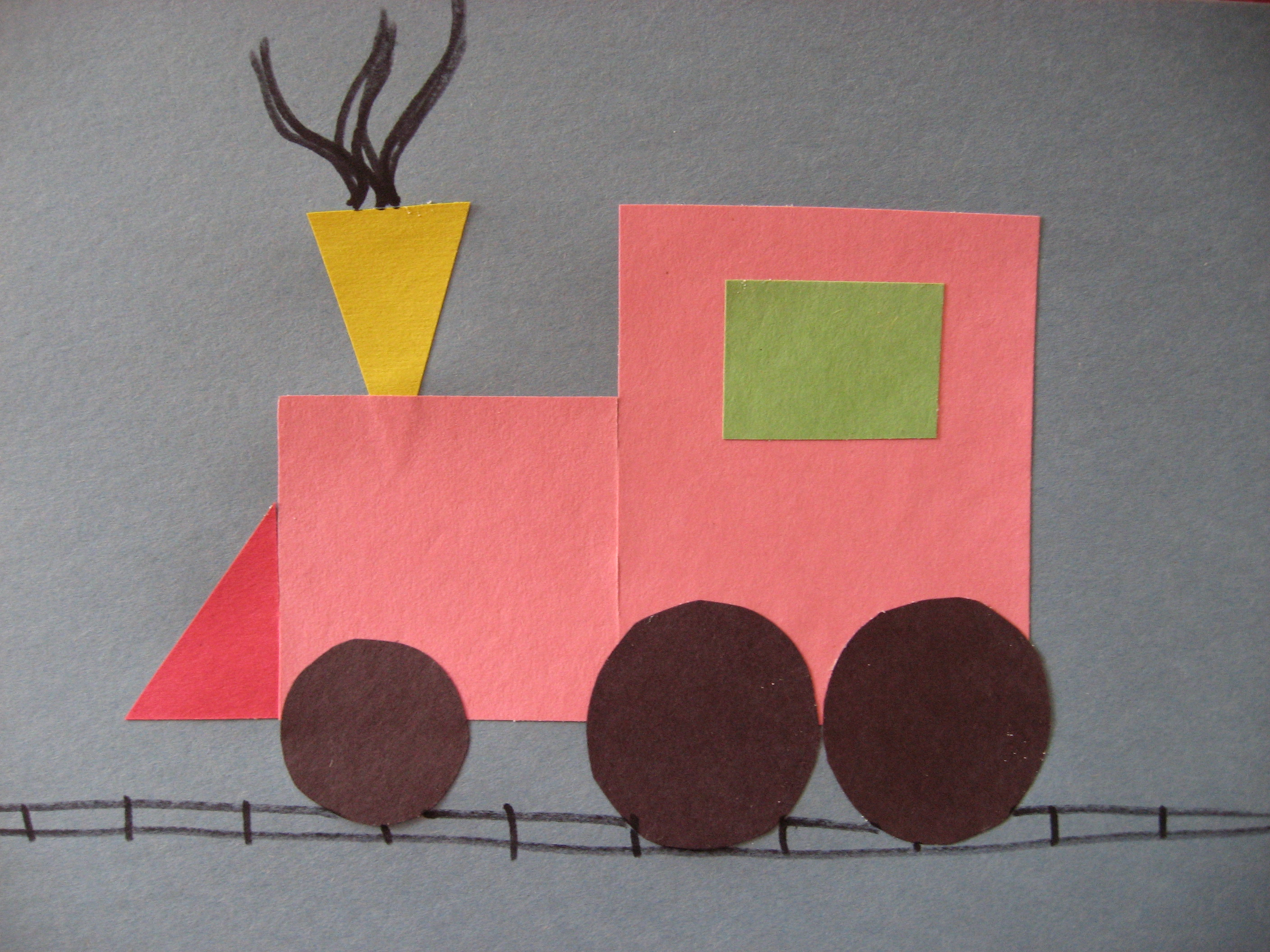 Shapes Train Worksheets