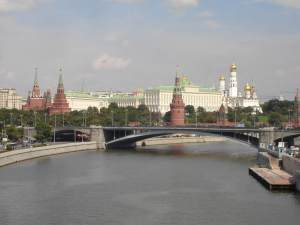 The Moscow Kremlin from the river