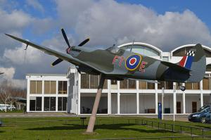 The Spitfire outside the RAF Museum, Hendon