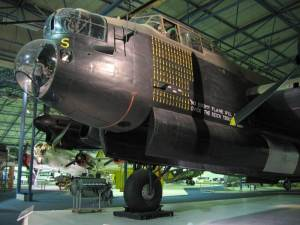 The very very big Lancaster Bomber at the RAF Museum, Hendon