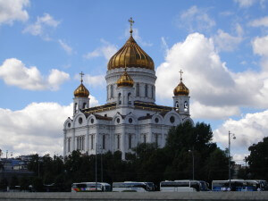 St Saviour's Cathedral from the Moscow River