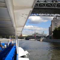 Cruise past the Kremlin on the Moscow River with CCK Riverboats