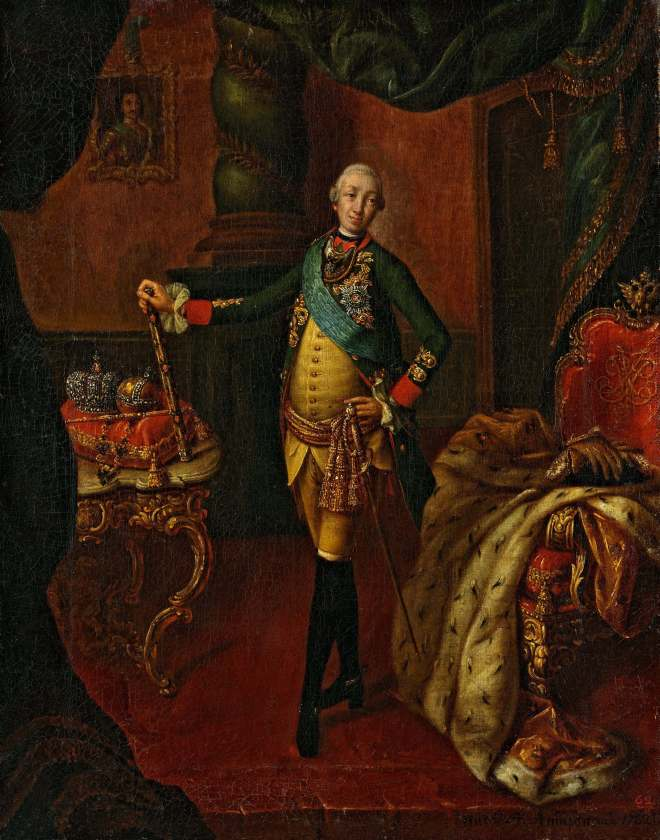 Antropov's Peter III at the Tretyakov Gallery