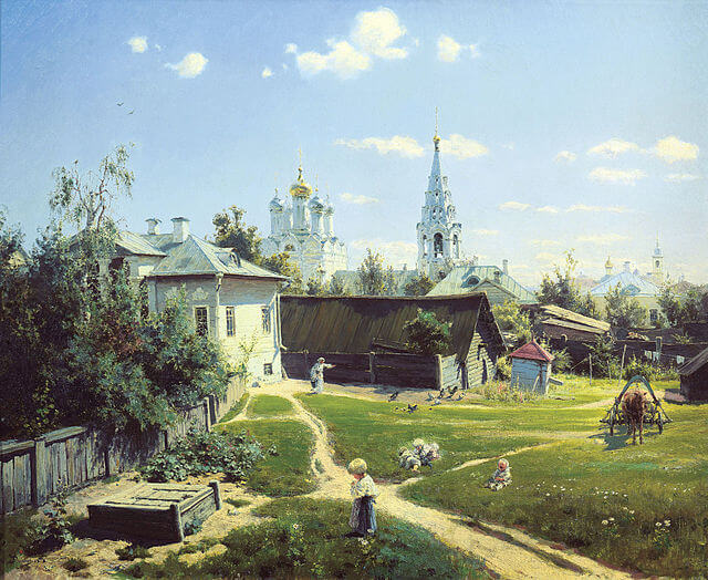 Polenov's Moscow Courtyard at the Tretyakov Gallery