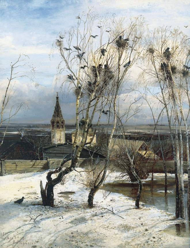 Savrasov's Rooks Returning at the Tretyakov Gallery