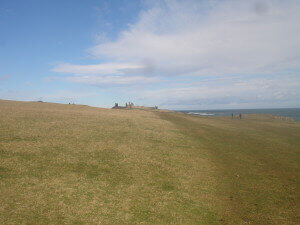 Dunstanburgh Castle from afar