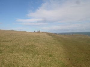 Dunstanburgh Castle from afar