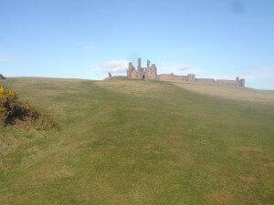 Dunstanburgh Castle up close