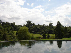 The view from the swimming pool at Chartwell