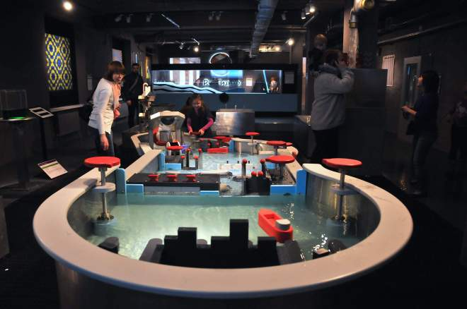 Water table at the Experimentanium Museum