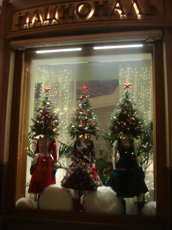 Hotel National Moscow New Year Window