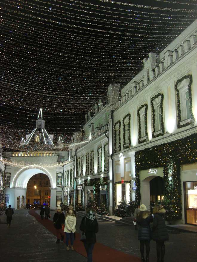 Street of stars New Year Moscow