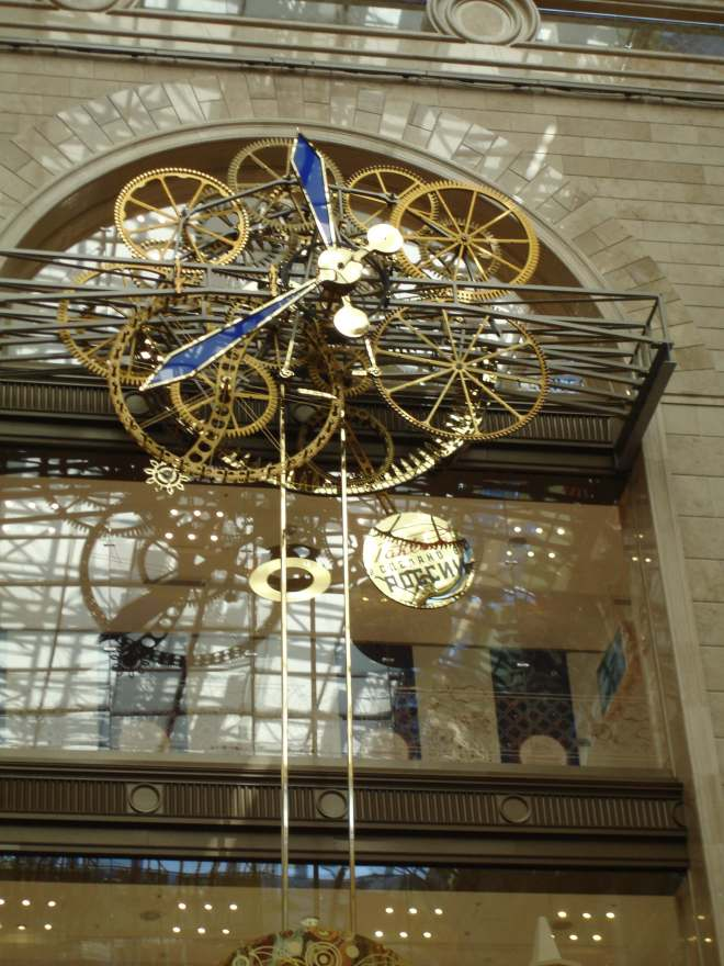 Giant Clock Central Children's Store Detsky Mir Moscow