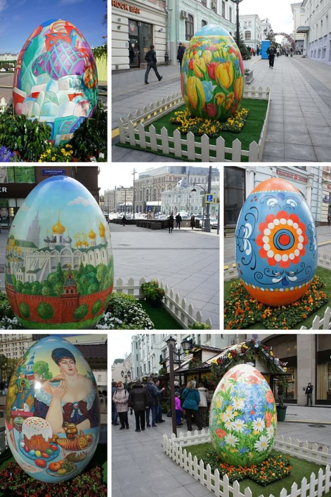 Orthodox Easter Eggs decorate the city in #Moscow