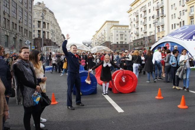 Pioneer obstacle course Moscow City Day 2016