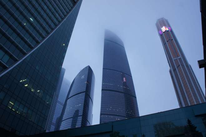 Federation Tower and Mercury City Tower Moscow City