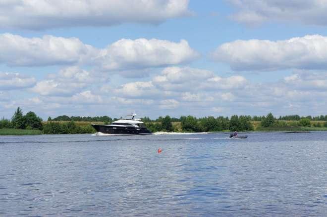 Boats Volga Dubna Russia