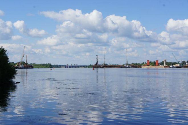 Bridge Volga Dubna Russia