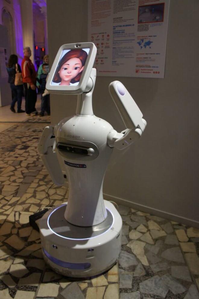 Friendly robot Robostation vDNH Moscow
