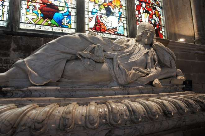 Reclining Victorian bishop Ely Cathedral