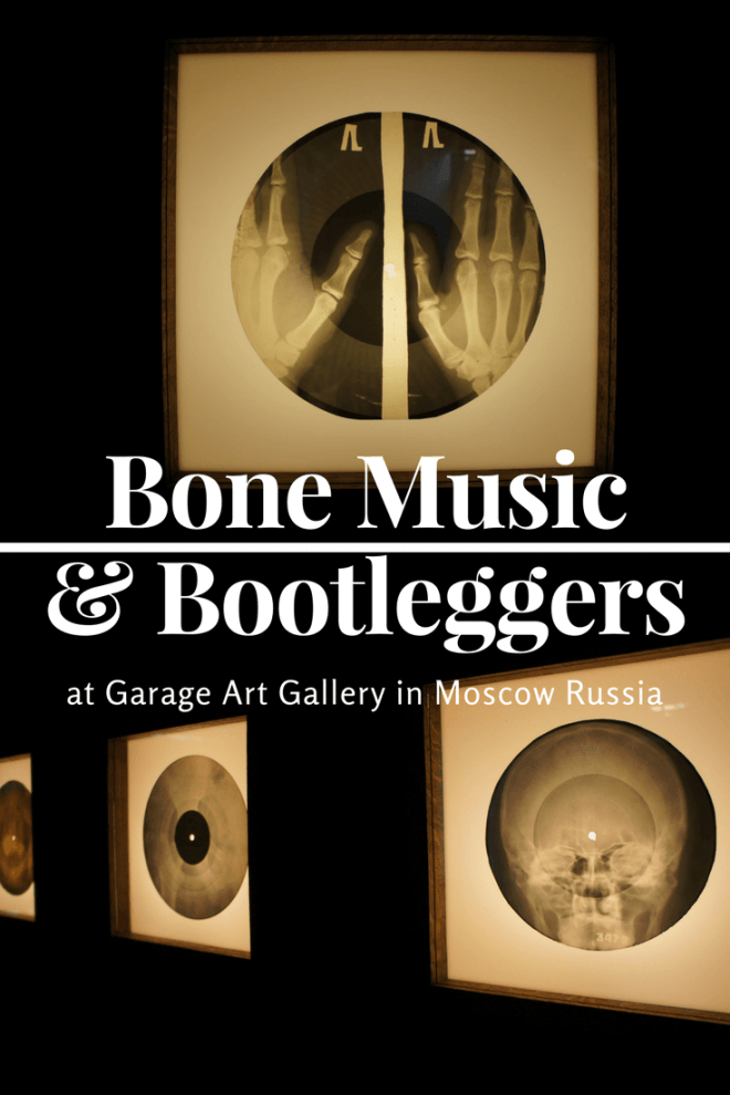 The Bone Music exibition about X-ray records and bootleggers at Garage art gallery in Moscow Russia