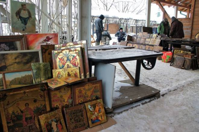 Icons at Vernissage Antiques Market Moscow