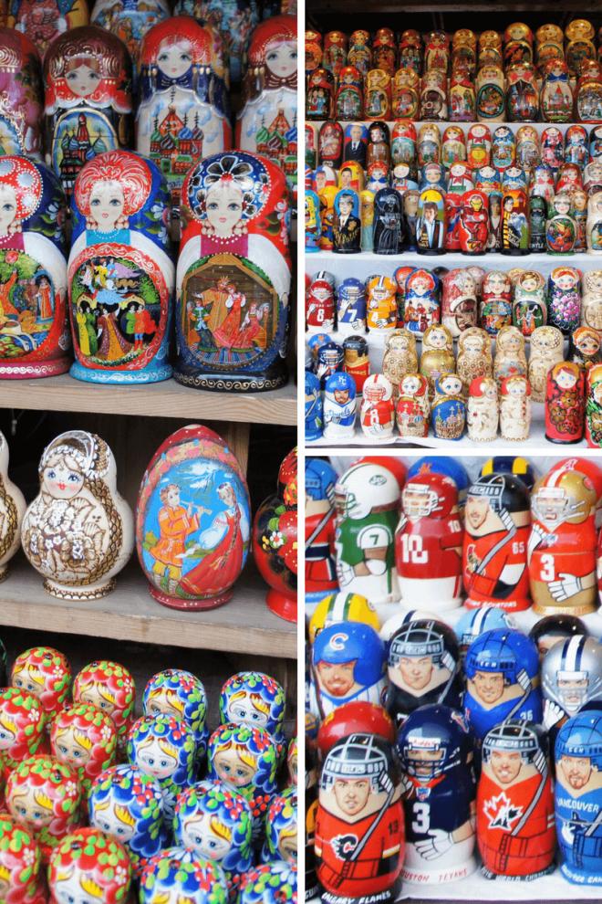 Matryoshka dolls at Vernissage Market in Moscow