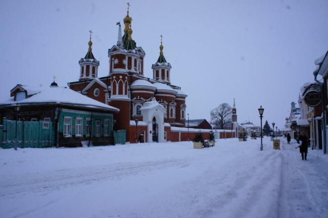 Krestovozdvizhensky Cathedral inside the Kremlin in Kolomna Russia