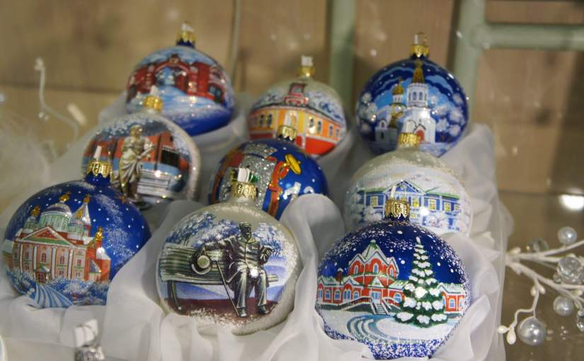 Celebrate at the New Year and Christmas tree decorations factory in Klin, Russia