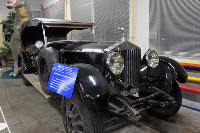 A car which has been adapted to look like a Rolls Royce at MosFilm Studio