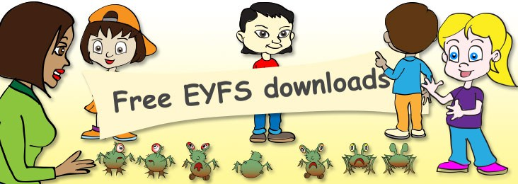 FREE EYFS downloads for preschool, nursery and parents